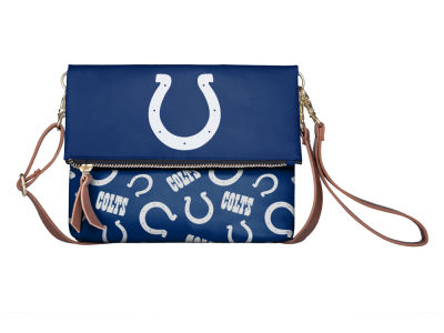 Indianapolis Colts Printed Collection Foldover Crossbody Purse