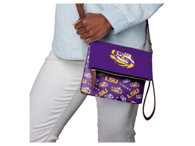 LSU Tigers Printed Collection Foldover Crossbody Purse