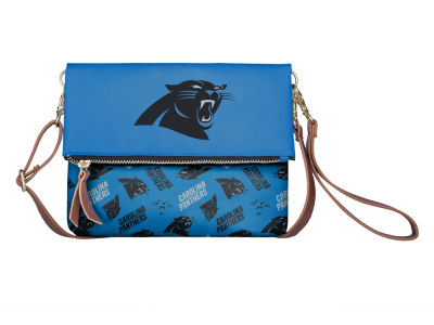 Carolina Panthers Printed Collection Foldover Crossbody Purse
