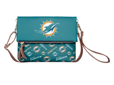 Miami Dolphins Printed Collection Foldover Crossbody Purse