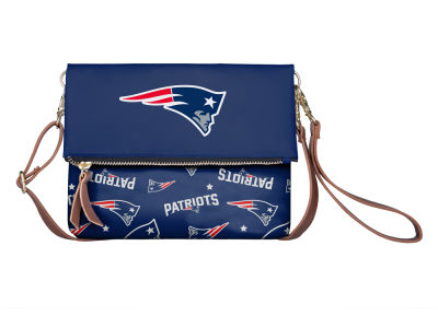 New England Patriots Printed Collection Foldover Crossbody Purse