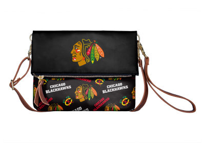 Chicago Blackhawks Printed Collection Foldover Crossbody Purse