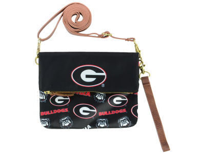 Georgia Bulldogs Printed Collection Foldover Crossbody Purse