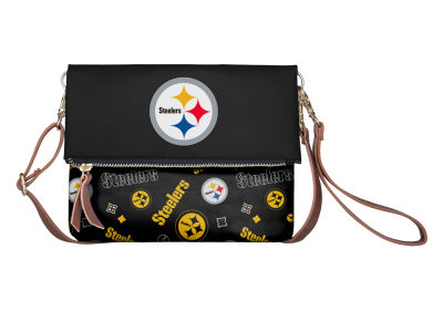 Pittsburgh Steelers Printed Collection Foldover Crossbody Purse