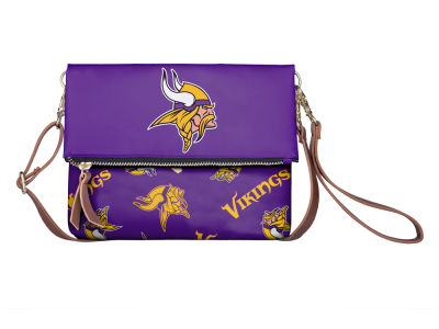 Minnesota Vikings Printed Collection Foldover Crossbody Purse
