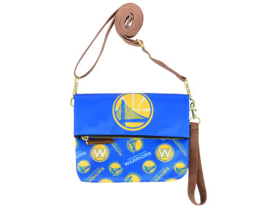 Golden State Warriors Printed Collection Foldover Crossbody Purse