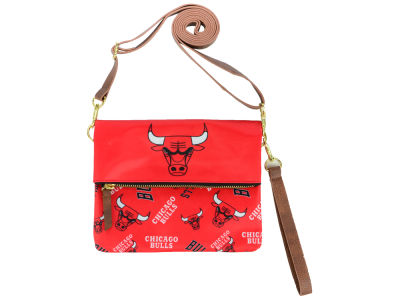 Chicago Bulls Printed Collection Foldover Crossbody Purse