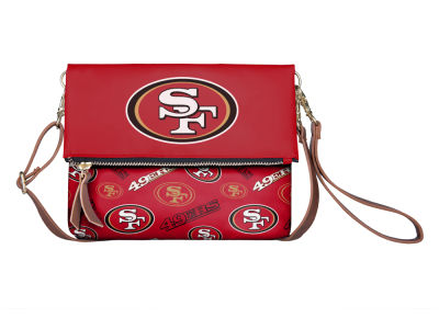 San Francisco 49ers Printed Collection Foldover Crossbody Purse