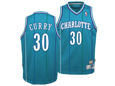 Charlotte Hornets Dell Curry Nike NBA Youth Retired Player Swingman Jersey