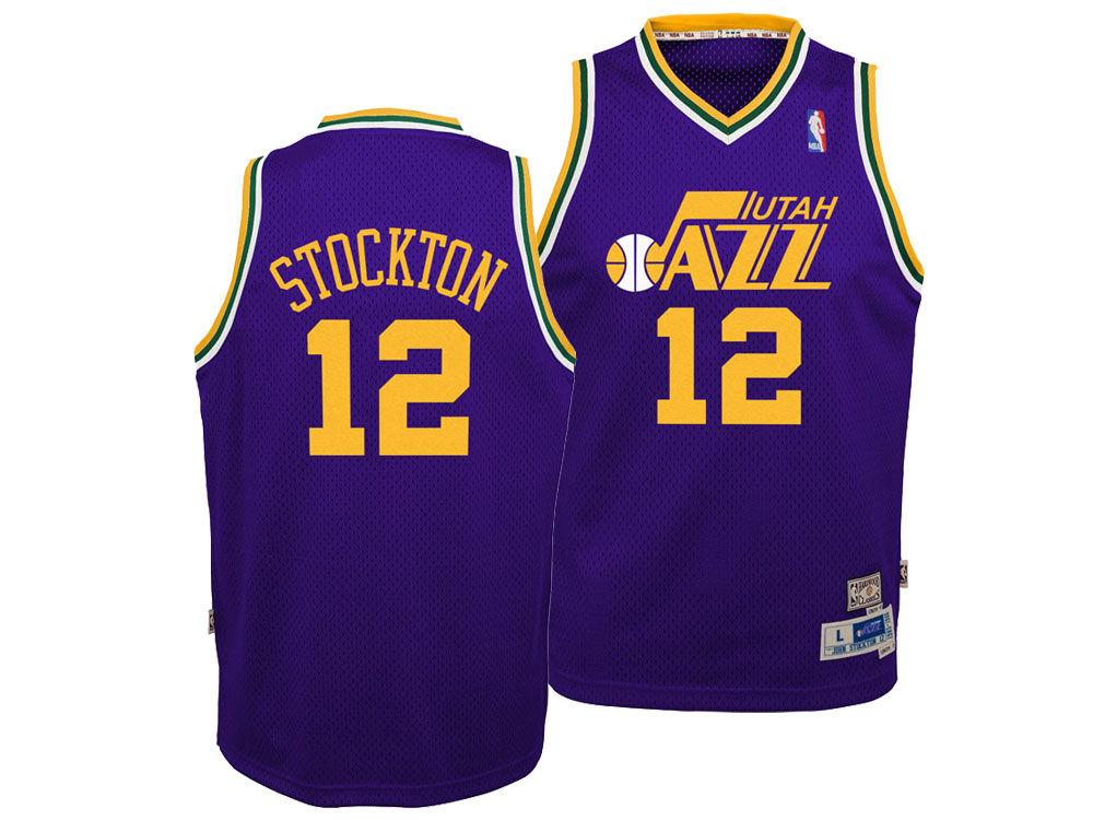 d533c0e9 ... wholesale utah jazz john stockton nike nba youth retired player swingman  jersey 8fe78 57470