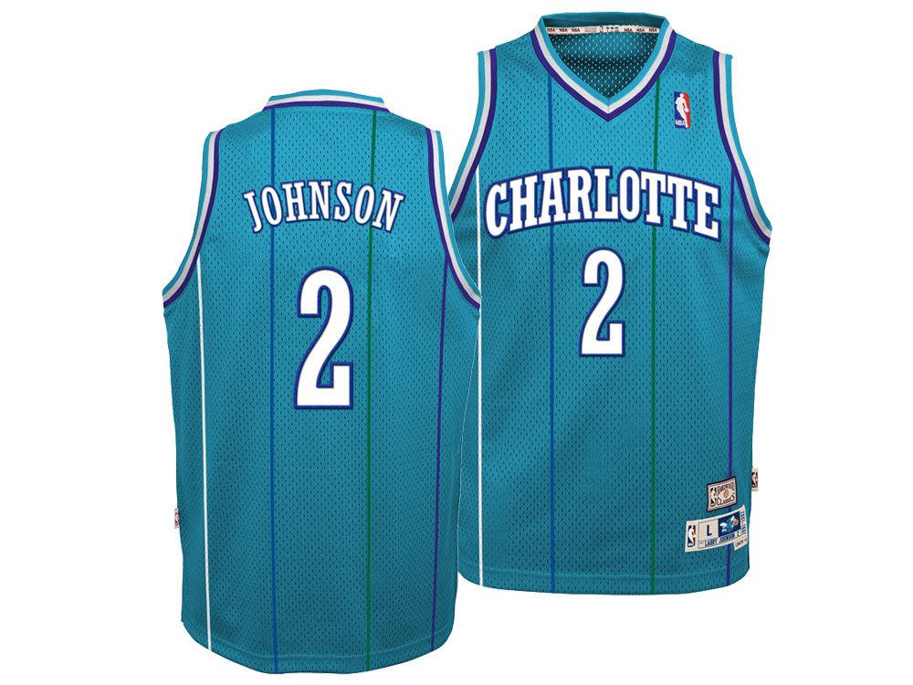 df93512ef1a ... germany charlotte hornets larry johnson nike nba youth retired player swingman  jersey lids 11e1c 5aef3