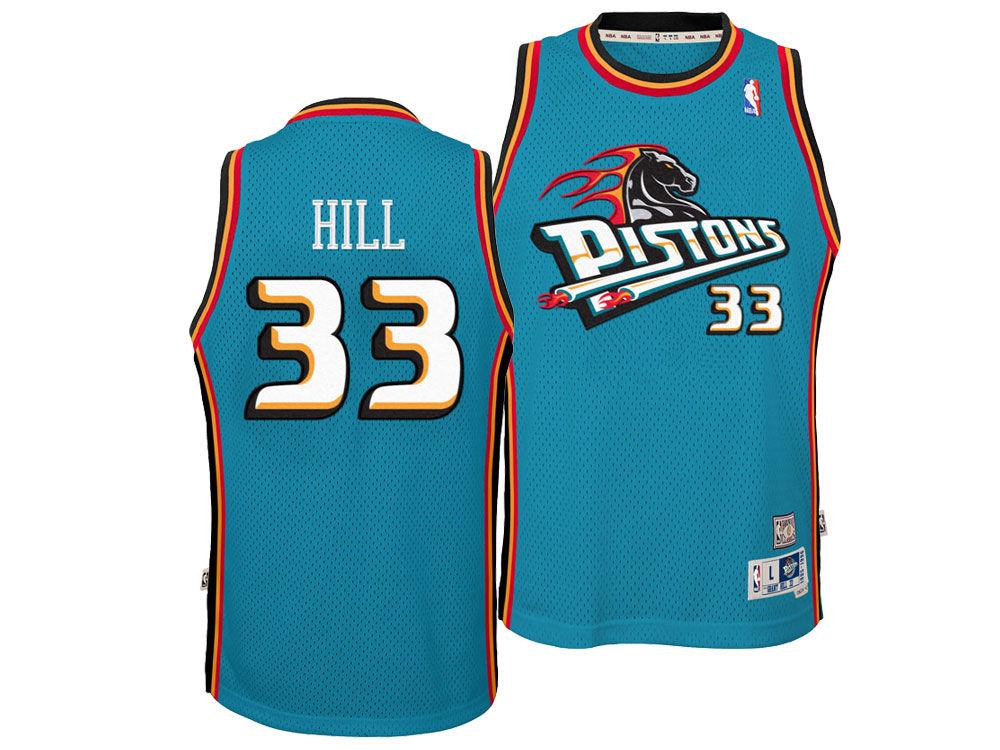 Detroit Pistons Grant Hill Nike NBA Youth Retired Player Swingman Jersey  eb6897095