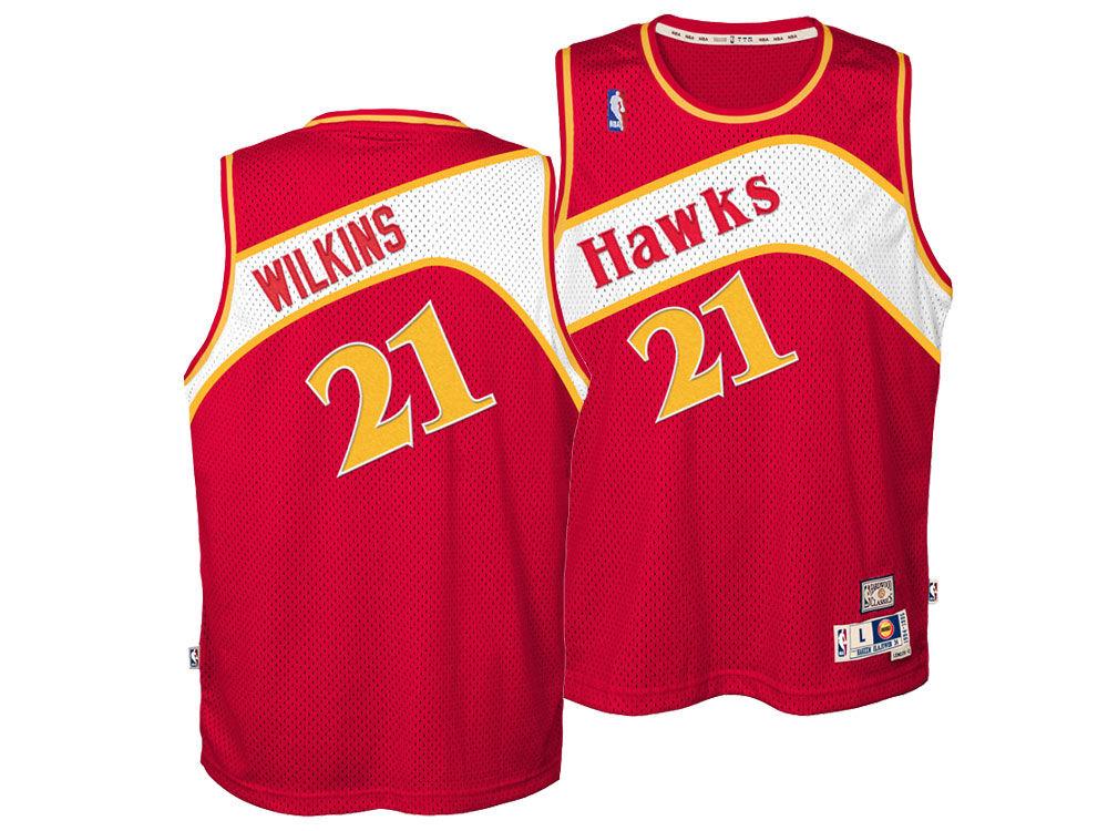 Atlanta Hawks Dominique Wilkins Nike NBA Youth Retired Player Swingman  Jersey  73fef67ed