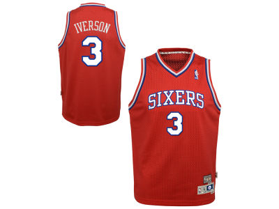Philadelphia 76ers Allen Iverson Nike NBA Youth Retired Player Swingman Jersey