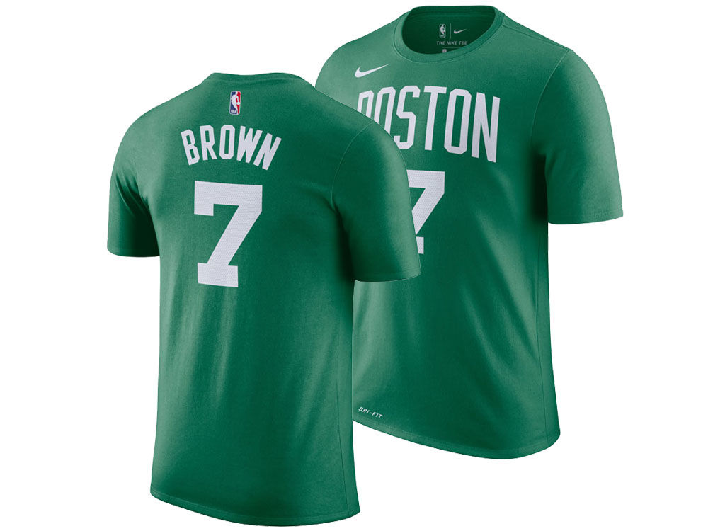 2570346b9 Boston Celtics Jaylen Brown Nike NBA Youth Icon Name and Number T-Shirt