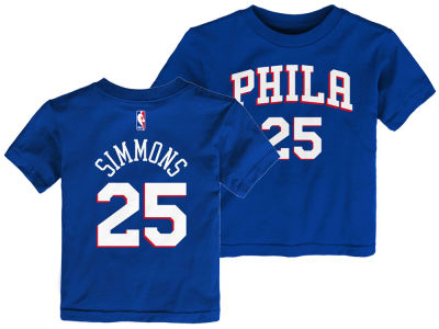 Philadelphia 76ers Ben Simmons Outerstuff NBA Toddler Replica Name and Number T-Shirt
