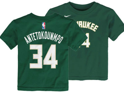 Milwaukee Bucks Giannis Antetokounmpo Outerstuff NBA Toddler Replica Name and Number T-Shirt