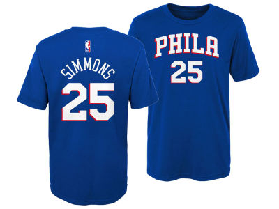 Philadelphia 76ers Ben Simmons Outerstuff NBA Kids Replica Name and Number T-Shirt