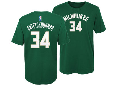 Milwaukee Bucks Giannis Antetokounmpo Outerstuff NBA Kids Replica Name and Number T-Shirt