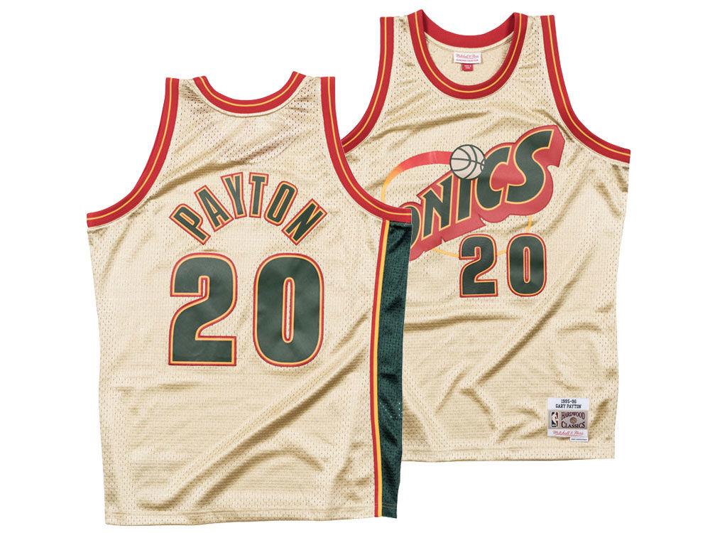 Seattle SuperSonics Gary Payton Mitchell   Ness NBA Men s Gold Collection  Swingman Jersey  578414ebf