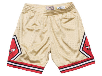 Chicago Bulls Mitchell & Ness NBA Men's Gold Collection Swingman Shorts