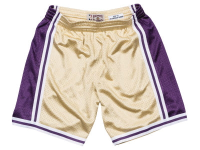 Los Angeles Lakers Mitchell & Ness NBA Men's Gold Collection Swingman Shorts