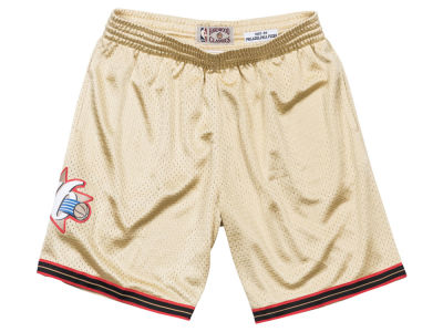 Philadelphia 76ers Mitchell & Ness NBA Men's Gold Collection Swingman Shorts