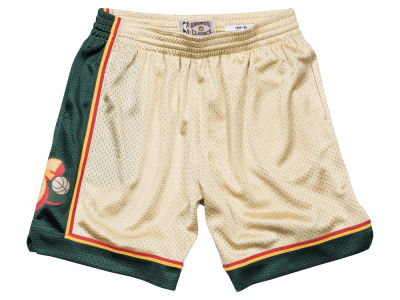 Seattle SuperSonics Mitchell & Ness NBA Men's Gold Collection Swingman Shorts