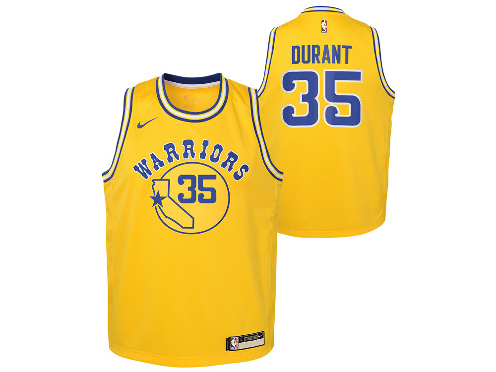 aeda72f66 Golden State Warriors Kevin Durant Nike NBA Youth Hardwood Classic Swingman  Jersey