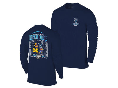 Villanova Wildcats 2018 NCAA Men's Final Four Bracket Long Sleeve T-Shirt