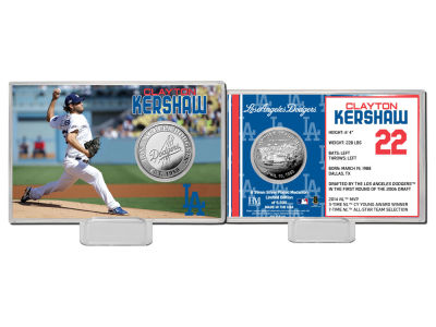 Los Angeles Dodgers Clayton Kershaw Highland Mint Coin Card-Silver