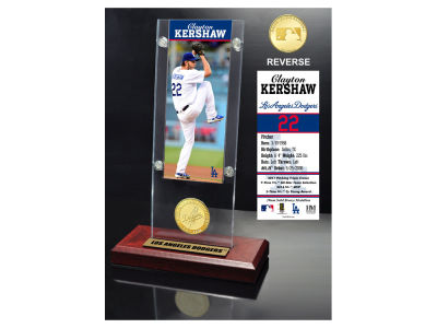 Los Angeles Dodgers Clayton Kershaw Highland Mint Ticket and Coin Acrylic