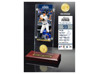 New York Yankees Aaron Judge Highland Mint Ticket and Coin Acrylic