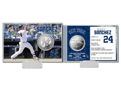 New York Yankees Gary Sanchez Highland Mint Coin Card-Silver