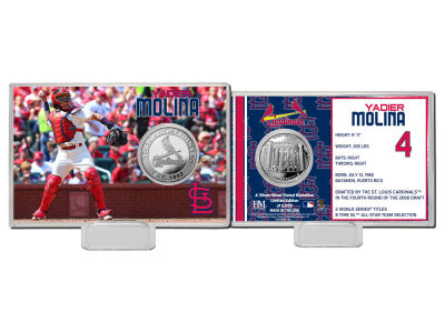 St. Louis Cardinals Yadier Molina Highland Mint Coin Card-Silver