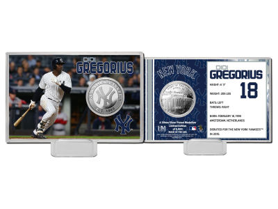 New York Yankees Didi Gregorius Highland Mint Coin Card-Silver