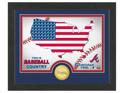 Atlanta Braves Highland Mint Country Bronze Coin Photo Mint