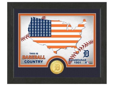 Detroit Tigers Highland Mint Country Bronze Coin Photo Mint