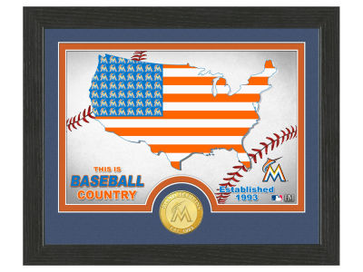 Miami Marlins Highland Mint Country Bronze Coin Photo Mint