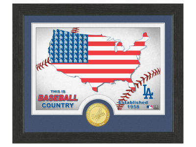 Los Angeles Dodgers Highland Mint Country Bronze Coin Photo Mint