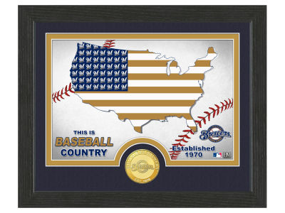 Milwaukee Brewers Highland Mint Country Bronze Coin Photo Mint