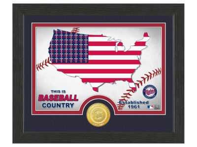 Minnesota Twins Highland Mint Country Bronze Coin Photo Mint