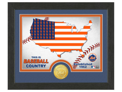 New York Mets Highland Mint Country Bronze Coin Photo Mint
