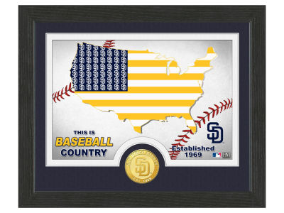 San Diego Padres Highland Mint Country Bronze Coin Photo Mint