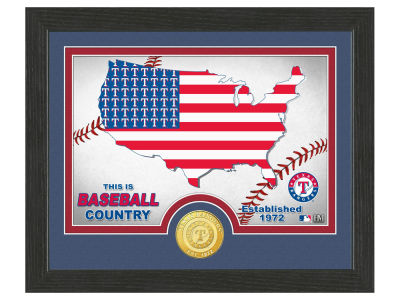 Texas Rangers Highland Mint Country Bronze Coin Photo Mint
