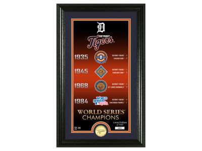 Detroit Tigers Highland Mint Legacy Supreme Bronze Coin Photo Mint