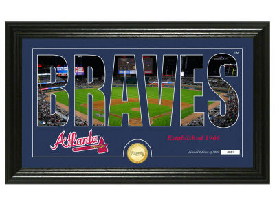 Atlanta Braves Highland Mint Silhouette Panoramic Bronze Coin Photo Mint