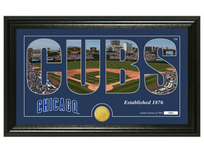 Chicago Cubs Highland Mint Silhouette Panoramic Bronze Coin Photo Mint