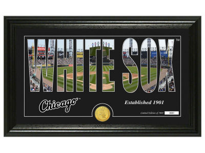 Chicago White Sox Highland Mint Silhouette Panoramic Bronze Coin Photo Mint