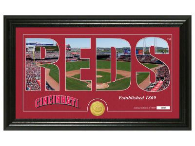 Cincinnati Reds Highland Mint Silhouette Panoramic Bronze Coin Photo Mint